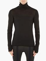 Y-3 Sport Black Wool-blend Turtleneck Sweater