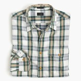 J.Crew Slim heathered slub cotton shirt in alabaster plaid