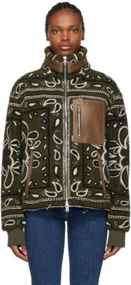 Amiri Khaki Fleece Bandana Jacket