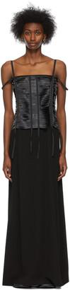 Givenchy Black Satin Ribbon Bustier Dress