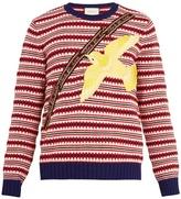 Gucci Bird-appliqué Wool-blend Sweater