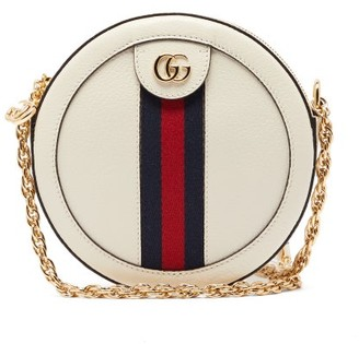 Gucci Ophidia Leather Cross-body Bag - White
