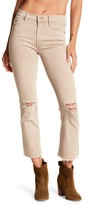 Mother The Insider Cropped Raw-Edge Flare Jeans