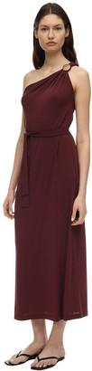 Max Mara Crepe Jersey One Shoulder Dress