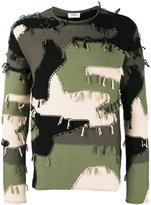 Ports 1961 camouflage fringed jumper - men - Cotton/Nylon - S