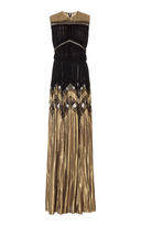 J. Mendel Metallic Georgette Gown