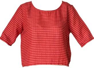 Good Krama Rachany Handwoven Top - Brick Stripes