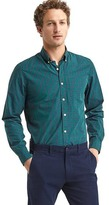 Gap Stretch Poplin tartan standard fit shirt