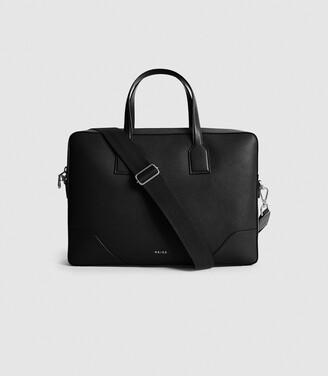 Reiss Elliott - Leather Briefcase in Black