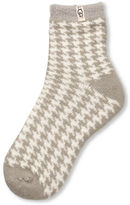 UGG Houndstooth Fleece Lined Sock