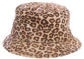 Dolce & Gabbana Ponyhair Leopard Printed Hat