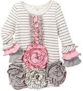 Baby Sara Stripe Dress With Ruffle Flower Bottom (Baby & Toddler Girls)