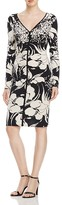 Adrianna Papell Floral Print Ruched Dress