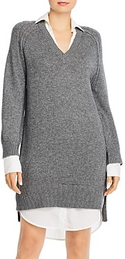 Brochu Walker Looker Wool & Cashmere Layered-Look Dress