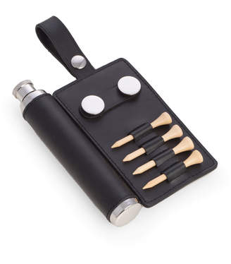 Bey-Berk Golf Accessory Set with Leather Wrap