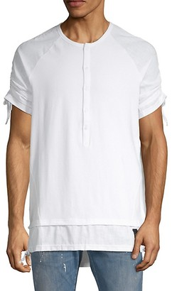 Ron Tomson Short-Sleeves Cotton-Blend Henley