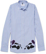 Oamc Printed Striped Cotton Shirt