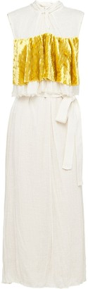 Prada Slubbed toile dress