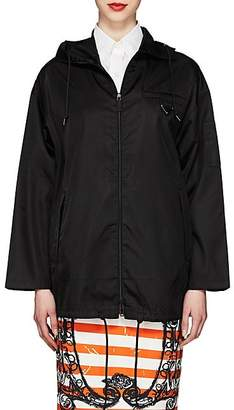 Prada Women's Tech-Gabardine Hooded Jacket - Black