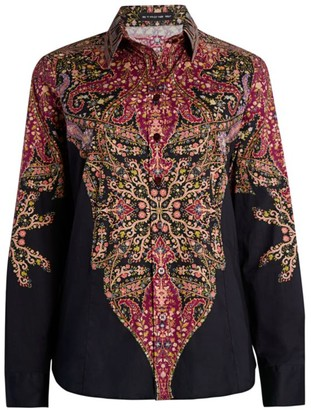 Etro Sciancrata Stretch-Cotton Shirt