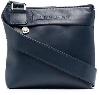 Billionaire Small Logo-Embossed Leather Crossbody Bag