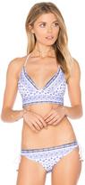 Shoshanna Batik Lace Back Bikini Top