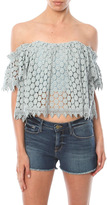 Tularosa Amelia Lace Off Shoulder Crop Top