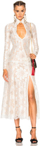 Alessandra Rich for FWRD L'Amant Chantilly Embellished Lace Dress