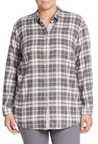 Lafayette 148 New York, Plus Size Sabira Plaid Shirt