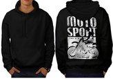 Moto Bike Sport Race Dirt Track Men NEW XXXL Hoodie Back | Wellcoda