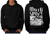 Moto Bike Sport Race Dirt Track Men XXXL Hoodie Back | Wellcoda