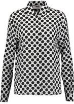 MSGM Polka-Dot Silk-Crepe Shirt