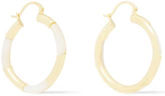 Noir Gold-tone Resin Hoop Earrings
