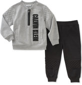 Calvin Klein 2-Pc. Quilted Top & Joggers Pants Set, Baby Boys (0-24 months)