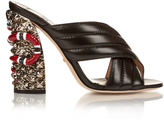 Gucci Sylvia crossover embellished mules