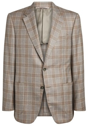 Canali Silk-Cashmere Check Blazer