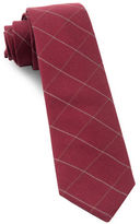 The Tie Bar Goalpost Pane Wool-Blend Tie
