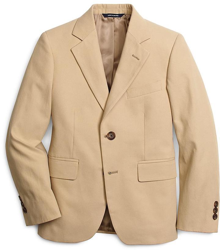Brooks Brothers Khaki Cotton Twill Suit Prep Jacket