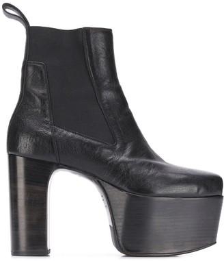 Rick Owens heeled Kiss boots