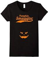 Women's Pumpkin Smuggler Shirt: Funny Pregnant Halloween Costume XL