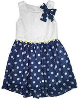 Nannette Girls 4-6x Nanette Dot Chiffon Dress