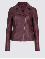 M&S Collection PU Biker Jacket