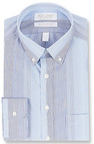 Roundtree & Yorke Gold Label Non-Iron Slim-Fit Button-Down Collar Ombre Stripe Dress Shirt