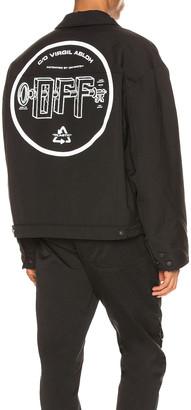Off-White Universal Key Puff Tech Jacket in Black & White | FWRD