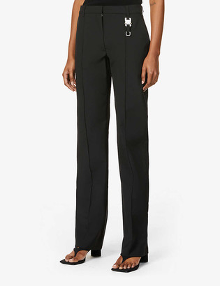 Alyx Buckle-embellished wide high-rise woven trousers