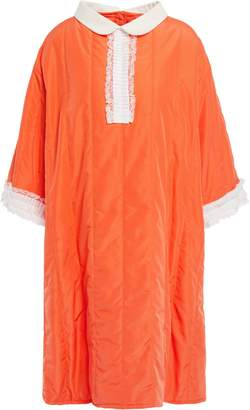 MM6 MAISON MARGIELA Oversized Lace-trimmed Quilted Shell Dress