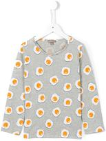 Emile et Ida 'Gris Chine Ao Eggs' T-shirt - kids - Cotton - 10 yrs