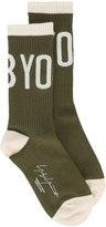 Yohji Yamamoto logo socks