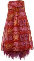 Anna Sui Orange Silk Dress for Women