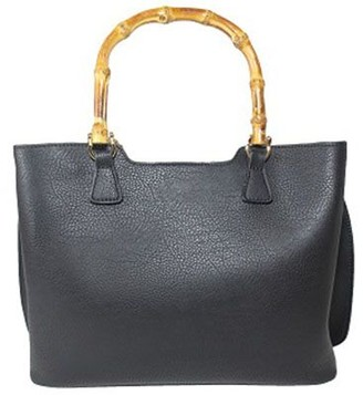UN Billion Bamboo Handle Crossbody with Gold Accents - Kelly